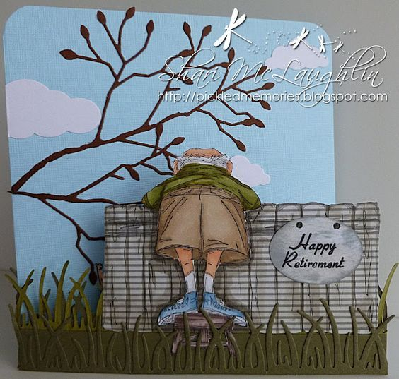 Holy FUNNY!! You MUST click the link and see what's behind the fence!! Art Impressions front and backs are so cute!