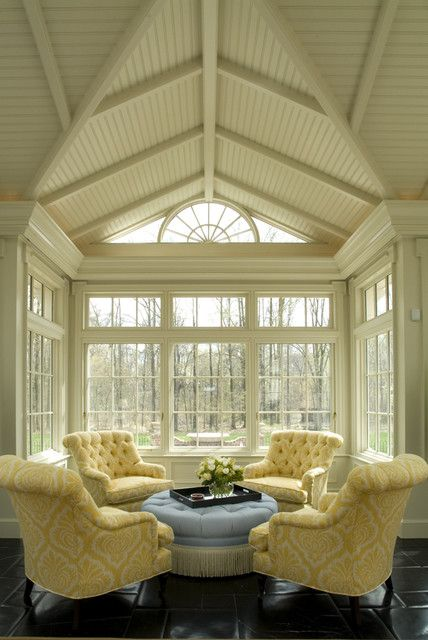 Traditional, cozy conservatory