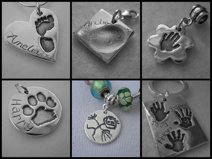 Handcrafted silver imprint jewellery by Tiny Charmers