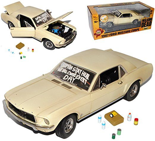 Ford Mustang Coupe Beige The Walking Dead 1967 118 Greenlight