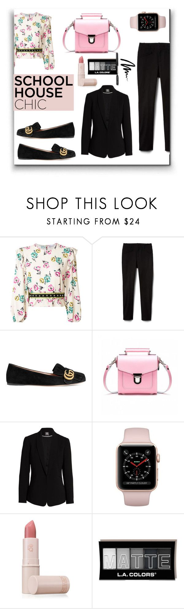 """""""Finals Season"""" by kelly-floramoon-legg ❤ liked on Polyvore featuring RED Valentino, Gucci, Vince Camuto, Lipstick Queen, Bobbi Brown Cosmetics, finals and polyvoreeditorial"""
