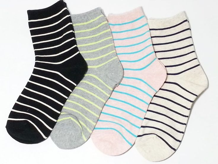 New 2 pairs Cute Women and Girls's Stripe fashion Color socks All season Casual #TC #Casual