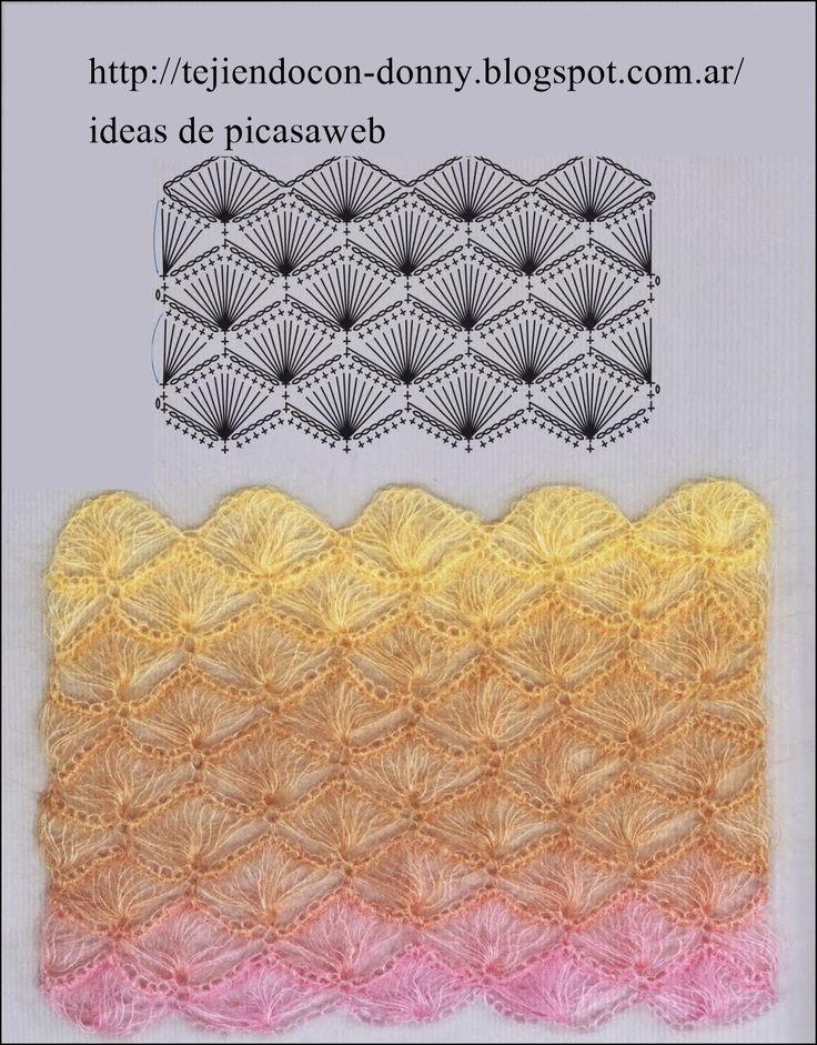 Patrones ganchillo crochet graficos tricot dos - Puntos para tejer ...