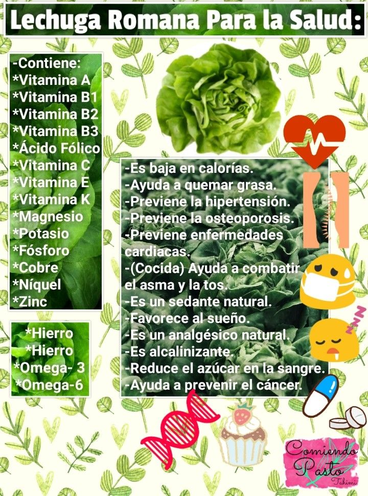 Beneficios De La Lechuga Romana Para La Salud Comiendo Pasto Tahimi Facebook Youtube Nutri Vitamins