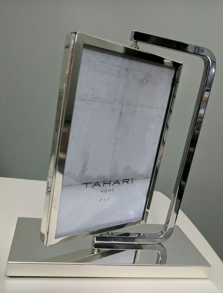"Tahari Home 4""X 6"" Table Easel Swivel Rotating Double sided picture frame deco 