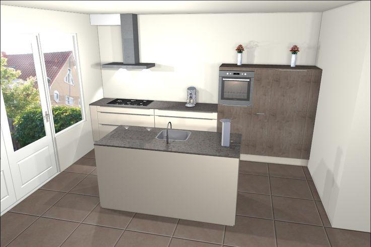 Een keuken met kookeiland is een veel gekozen keukenopstelling bekijk de 25 voorbeelden van - Kleine keukenkap ...