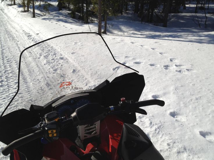 Warm spring weather on a perfect Easter break on top of snowmobiles heading to middle-of-no-where! Safartica, Rovaniemi, Lapland