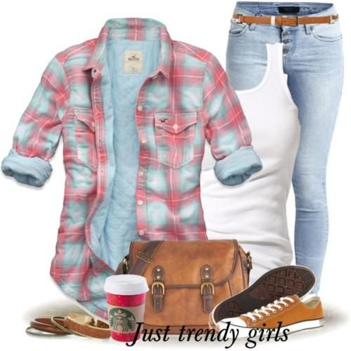 cute checked shirt outfit Fashion Plaid Shirts for woman http://www.justtrendygirls.com/fashion-plaid-shirts-for-woman/
