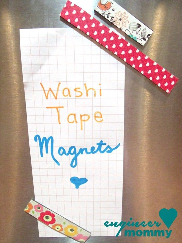DIY washi tape magnets | Engineer Mommy
