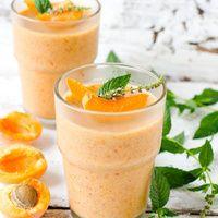 Recette Pour le petit-déjeuner Smoothie pêche, abricot, flocons d'avoine