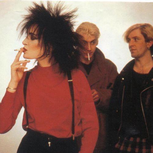 Banshees Siouxsie Sioux, Budgie, and John McGeoch, 1980.