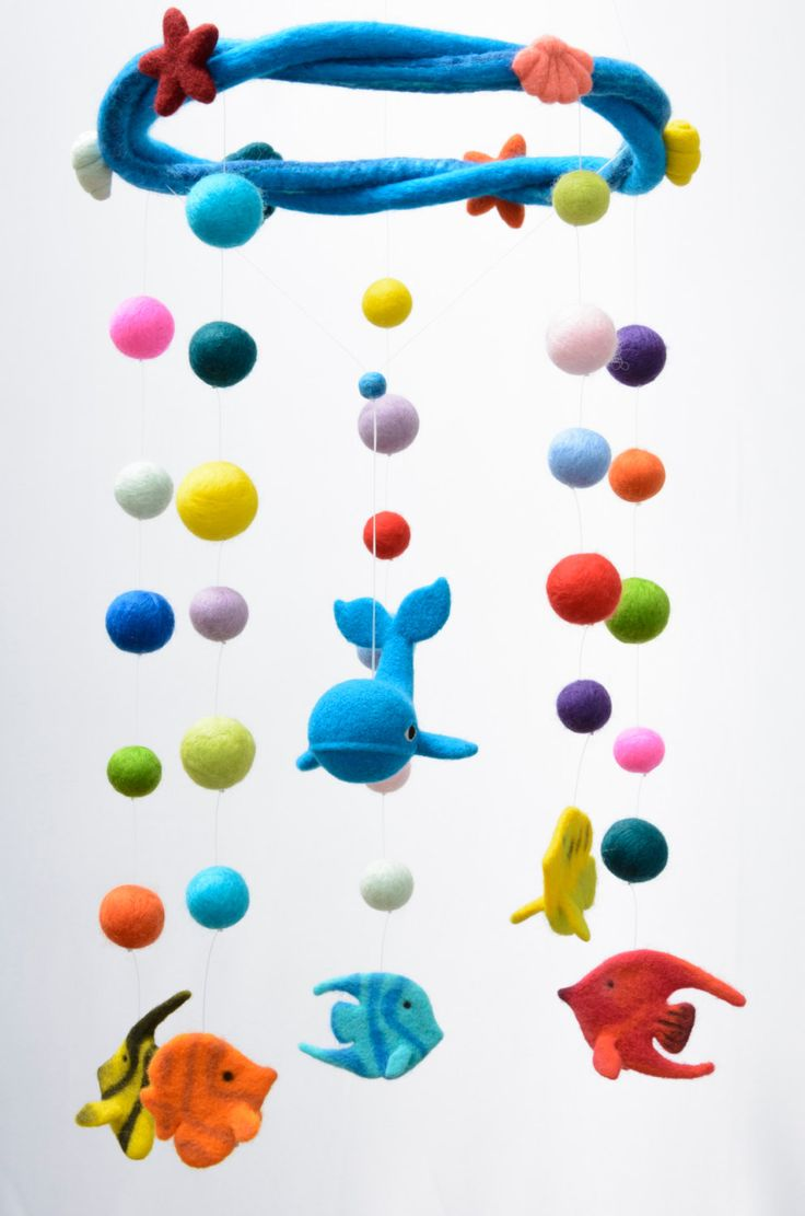 17 best ideas about baby mobile felt on pinterest felt for Sea animal baby mobile