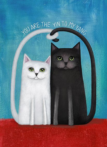 You are the Yin to my Yang - a whimsical art-card by RAW +design. Available from www.imagevault.co.nz