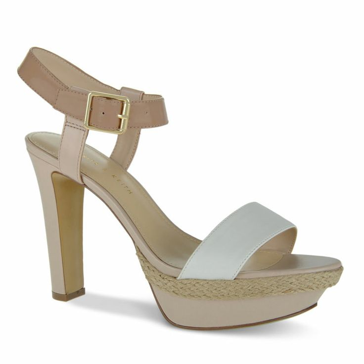 Ankle Strap Platform Heels - White - Heels - Shoes | CHARLES & KEITH
