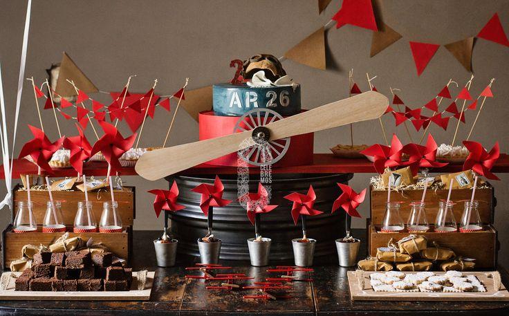 CELEBREMOS -Mesas dulces, tortas ambientaciones en Buenos Aires, contacto celebremosdulce@gmail.com - vintage airplane party