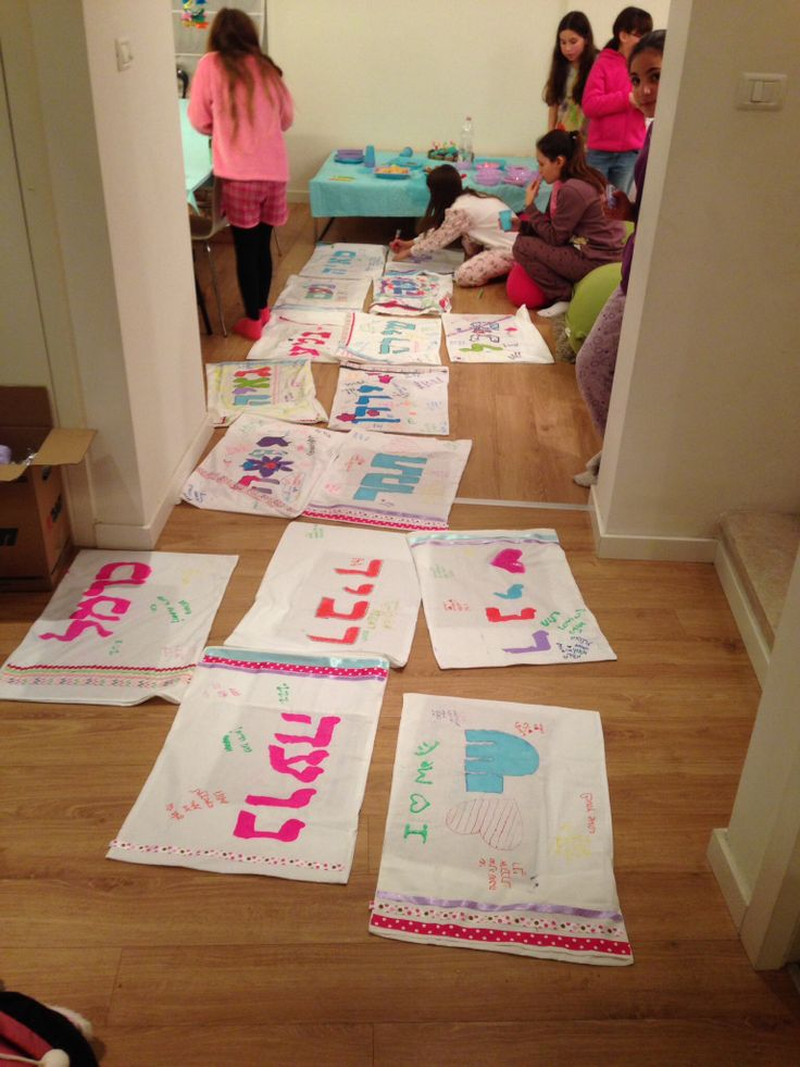 Pillowcase Crafts At 11 Year Old S Pyjama Party Kids