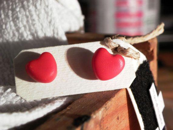 Orecchini da lobo in fimo / Earrings in polymer clay di 3701