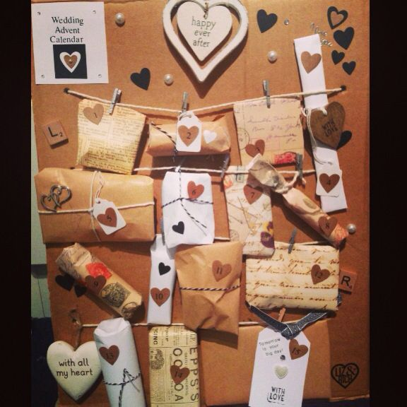 Advent Calendar Ideas Wedding : Wedding advent calendar made for my best friend