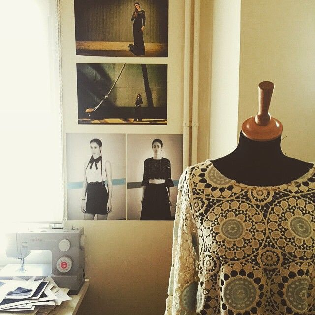 Giulia S is off to vacation  Happy Easter everyone  #giuliashandmadeclothing#crochet#lace#atelier#ss15#happyeaster