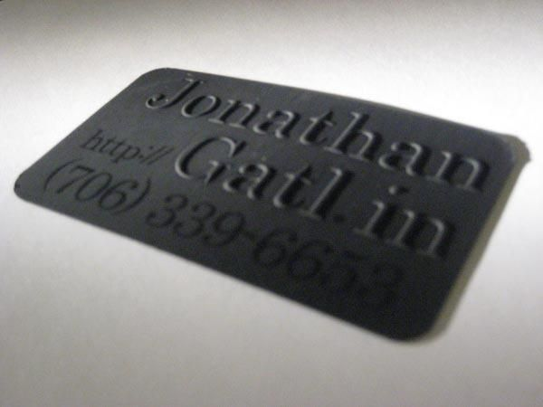 15 best wow business cards images on pinterest business ideas all black plastic business cards with raised lettering reheart Gallery