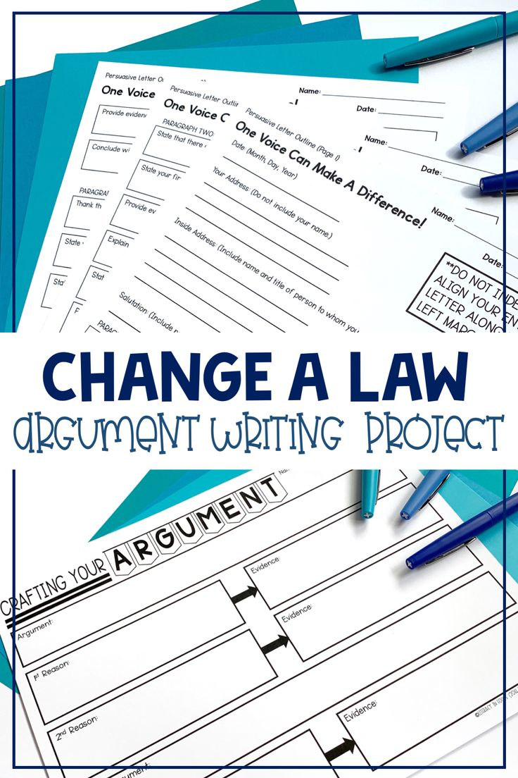 Argument Writing Unit (Printable and Digital