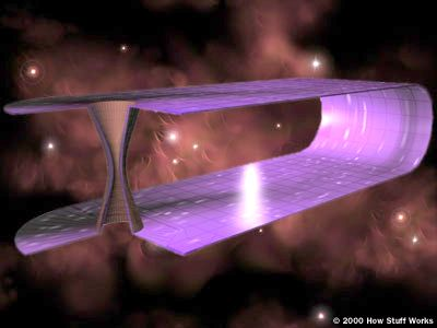 "HowStuffWorks ""Wormholes"" How Time Travel Works Einstein's general theory of relativity allows for the existence of wormholes since it states that any mass curves space-time."