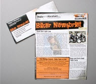 Stay up-to-date with the latest biker news. Get the Hupy and Abraham Biker Newsbrief! Sign up today.