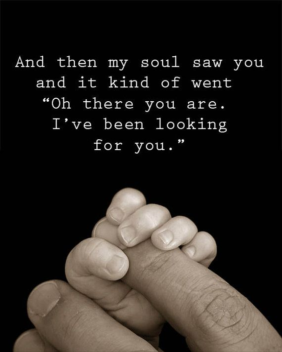 and then my soul saw you.....