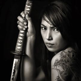 Tattoo and Samurai Sword