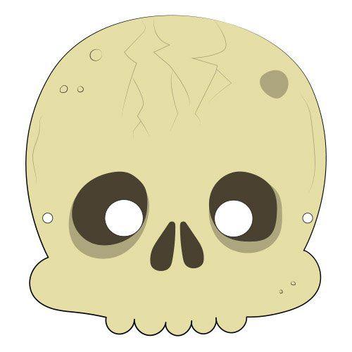 Máscara para Halloween de un esqueleto. Manualidades a Raudales.