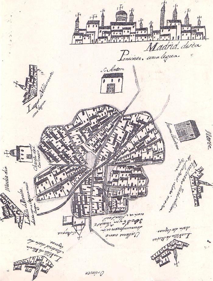 Plano religioso de Vallecas Villa en el siglo XVII