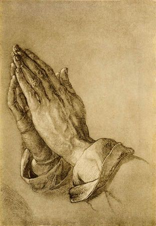 Albrecht Durer (1471 -1528) - German painter, printmaker, engraver, mathematician, and theorist. The greatest artist of the Northern Renaissance. - Praying Hands - Links to Wikipedia not image)