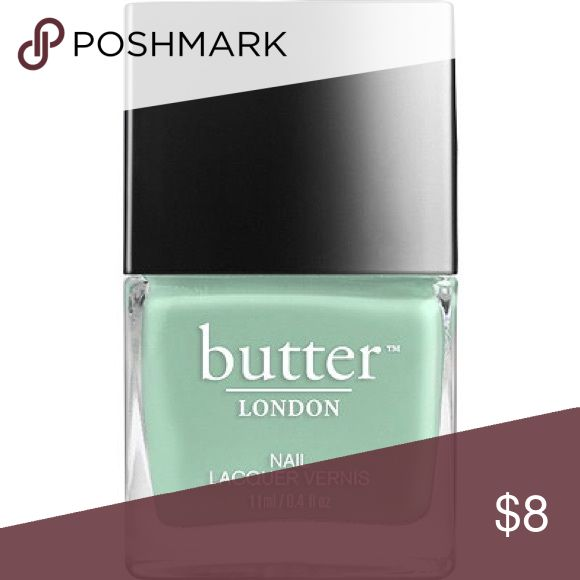 "Butter London Polish DUO! Used once. Light sea green + Light powder blue. Bought to recreate 2015 NYFW ""water color"" nail trend. Still on point! Makeup"