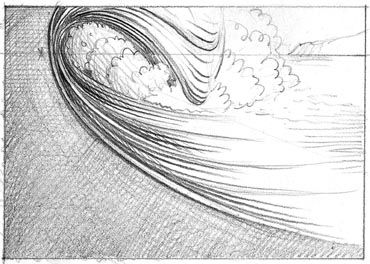 How to draw waves. I'm definitely going to keep this in mind next time I draw waves.