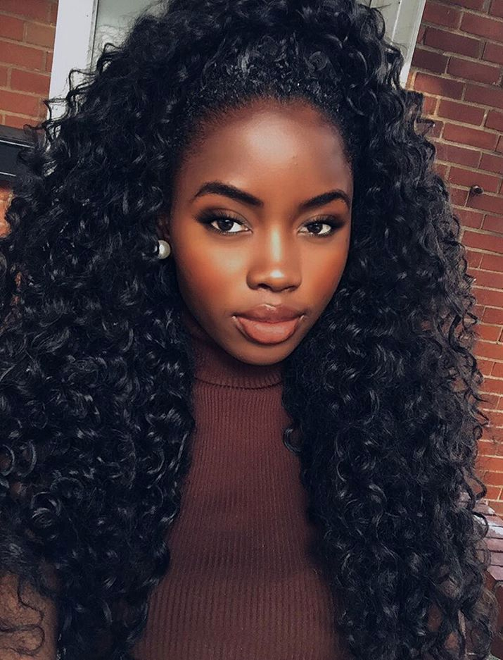 long curly weave hairstyle