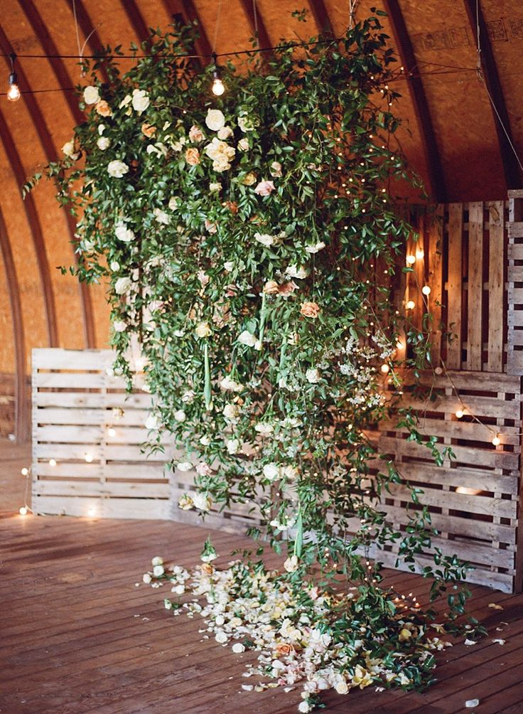 Stunning backdrop. A Love Affair Workshop  Bohemian Farm-to-table Inspiration featured on Green Wedding Shoes