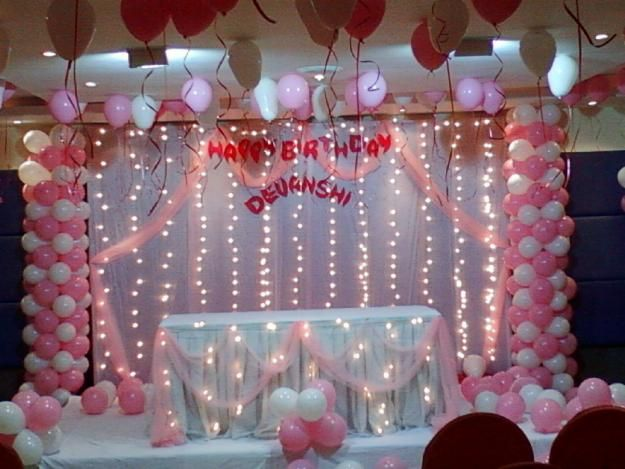Decoration design ideas and home decor inspiratio part for Balloon decoration for birthday at home