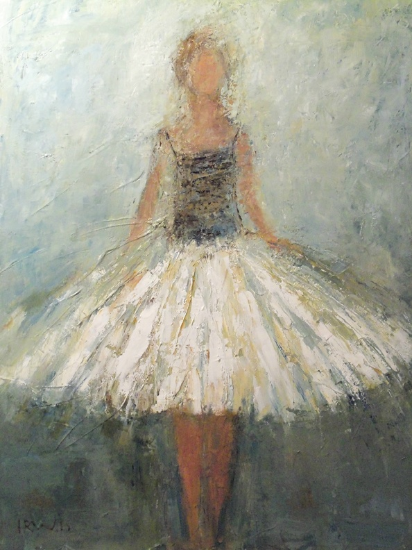 Ballerina painting by Holly Irwin. Reminds me of my daughter, the ballerina.