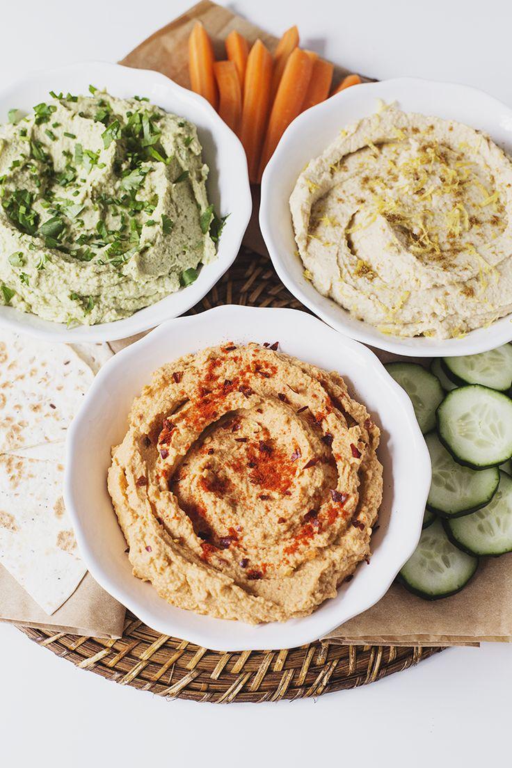 Um Trio de deliciosas receitas de Hummus                                                                                                                                                                                 Mais