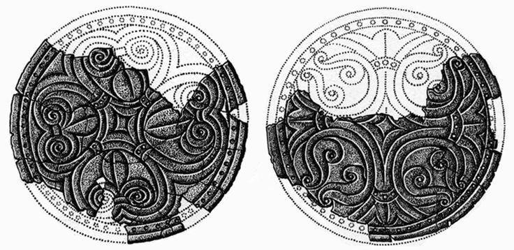 A tiszaeszlári 1. sír.A hajfonatkorongok rekonstrukciós rajza
