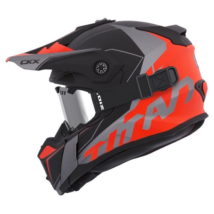 CKX - Off-road winter helmets - TITAN Cliff Orange Mat - kimpexnews.com