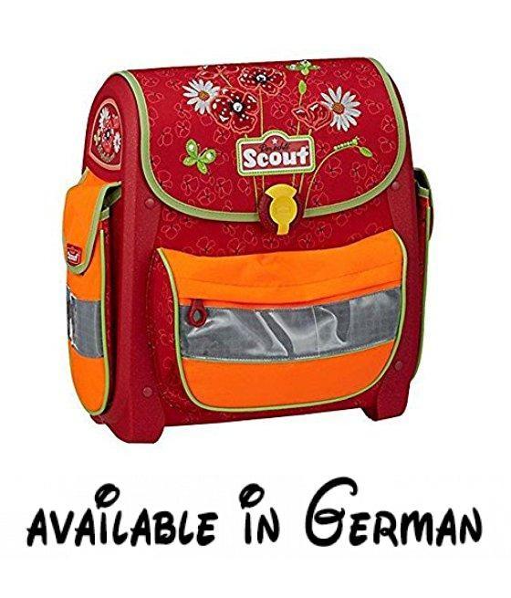 Scout - Buddy - Schulranzen Set 4 tlg. - Mohnblume. Schule-Set aus hochwertigen Materialien gefertigt.. Rucksack ist ergonomisch geformte Rücken.. Rucksack ist speziell mit einem Schwerpunkt auf die Sicherheit der Kinder konzipiert. #Koffer, Rucksäcke & Taschen #LUGGAGE