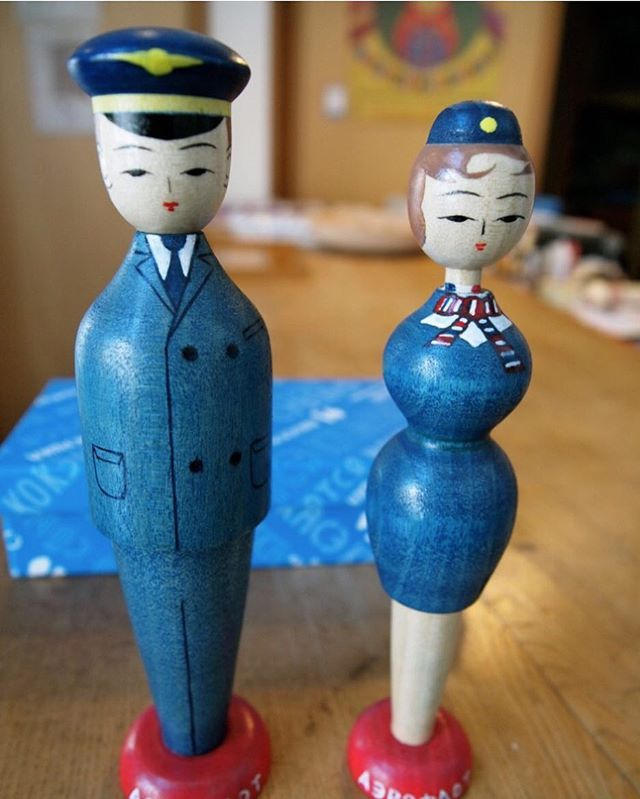 H m blue dress kokeshi