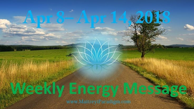 Finally things are changing... Weekly Energy Message for the week of Apr...