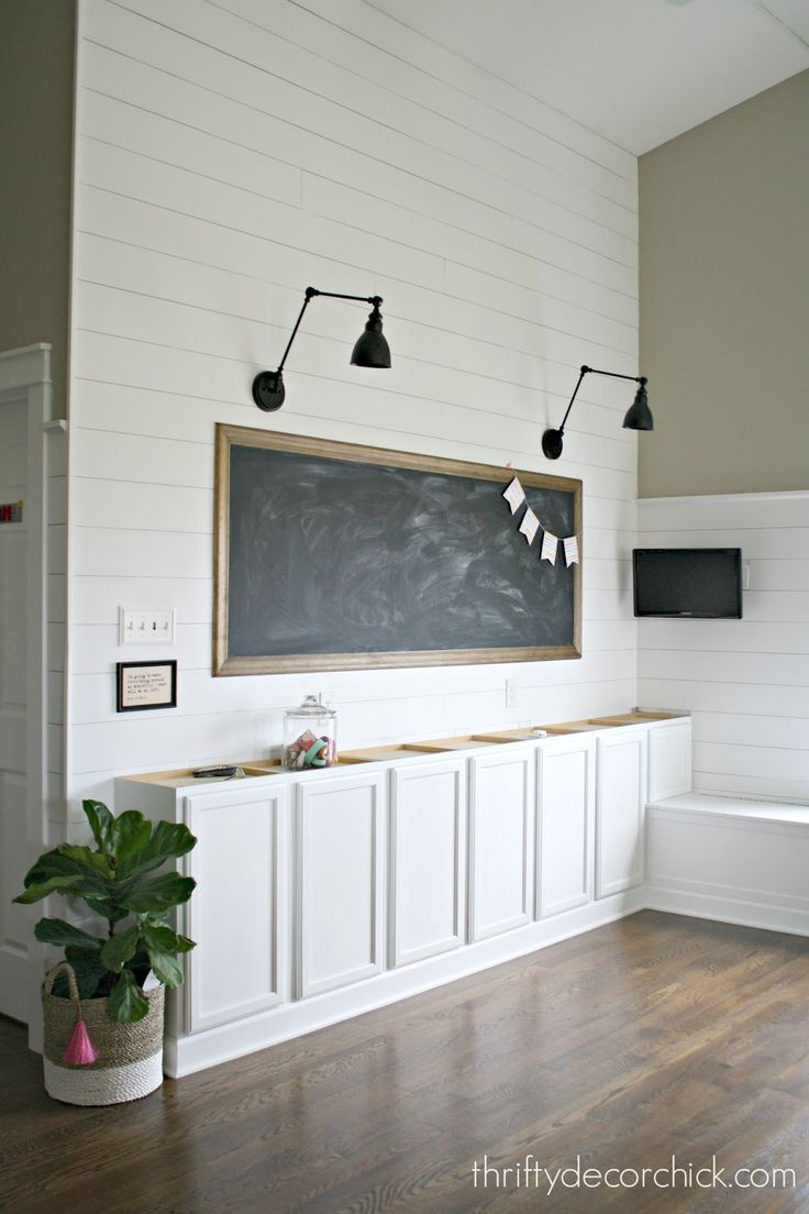 School house, farmhouse loft with huge chalkboard. How to make a large DIY chalkboard. @Thriftydecorchick is my blog crush forever!