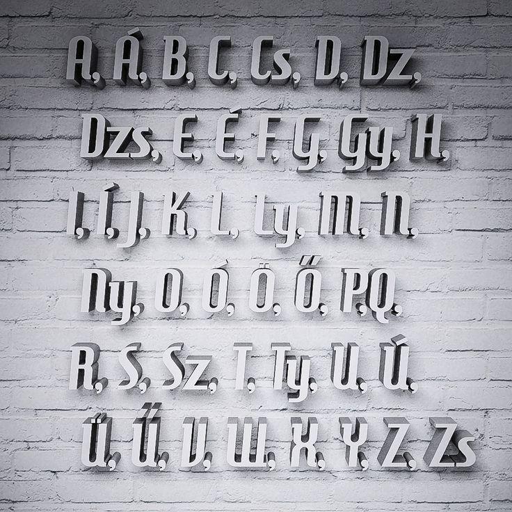 Betű Trendy betűtípussal, színes | Miradea