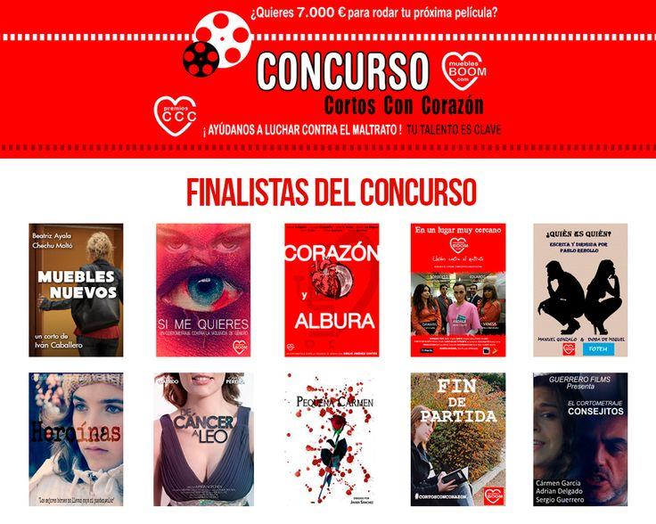 Estos son los 10 FINALISTAS de #CortosconCorazón. Ahora es el turno del jurado que tendrá que seleccionar a los tres cortometrajes ganadores del concurso. ¿Cuáles son tus favoritos?