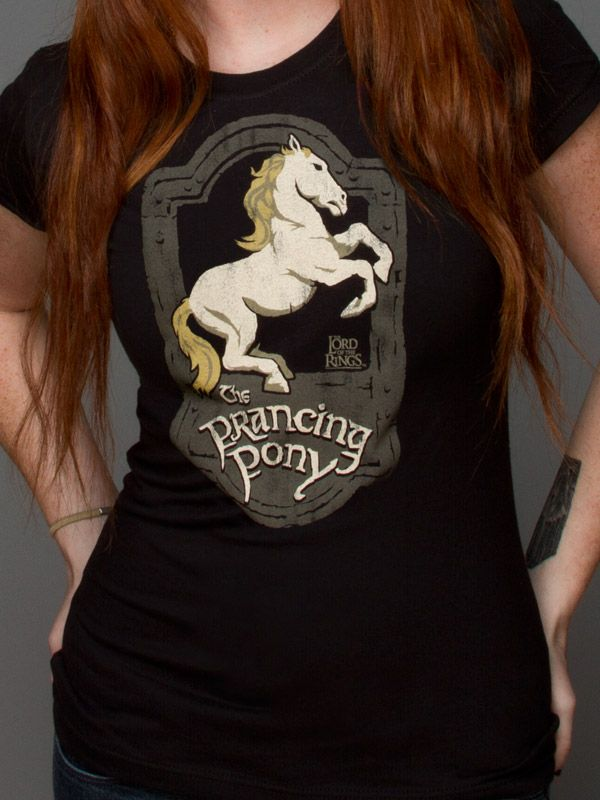 J!NX : Lord of the Rings Prancing Pony Women's Tee - Clothing Inspired by Video Games & Geek Culture