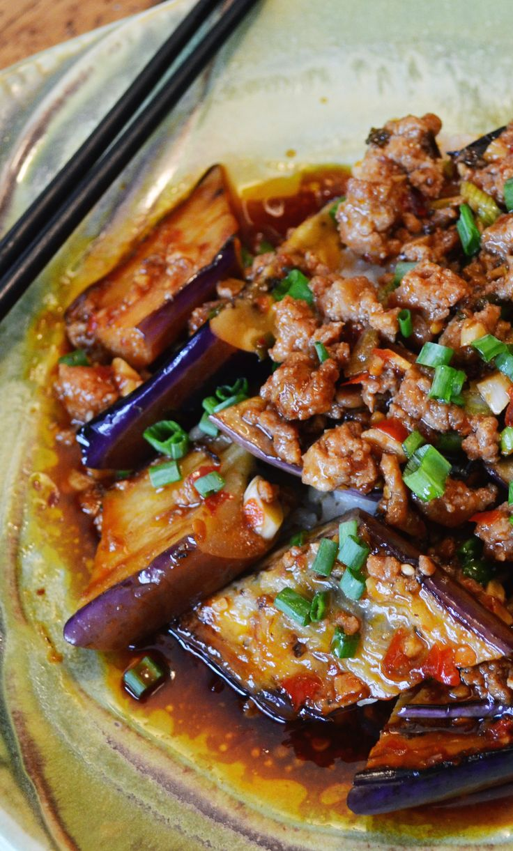 Ma Po Eggplant in Garlic Sauce