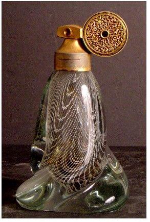 708: MARCEL FRANCK PERFUME ATOMIZER, NICE ART GLASS,
